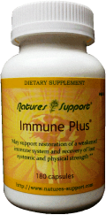 Immune Plus bottles containing 180 herbal capsules